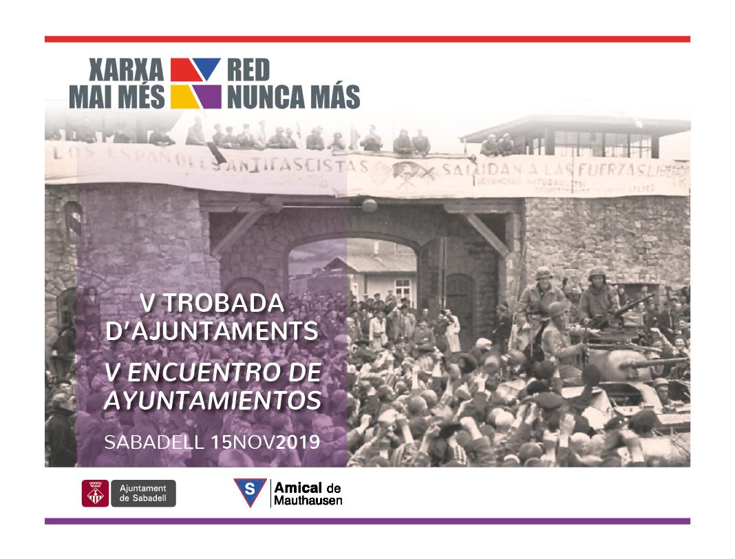 V Trobada d'Ajuntaments. Sabadell, 2019